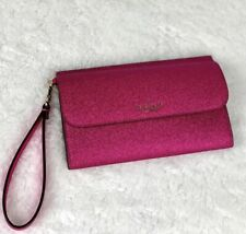 RARE NEW Kate Spade Lola Glitter Boxed Medium Phone Wristlet Wallet Clutch PINK