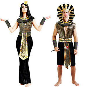Adults Egyptian Pharaoh Kit Mens Ladies Egypt Fancy Dress Costume Unisex Outfit
