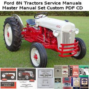 Ford 8n 9n Tractor Service Manual Repair Workshop Manuals Custom CD **NICE !!**