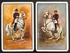 Pair of Vintage Swap/Playing Cards - MAJESTIC HORSES