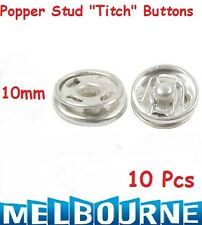 10x Snap Fasteners Sew On Poppers Studs Buttons Fastenings Silver Color 10mm #SB