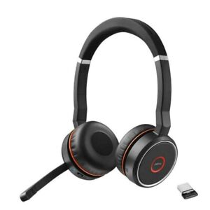 Jabra Evolve 75 Bluetooth Noise Cancelling Headsets, Link 370, MS