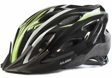 Raleigh Mountain Bike MTB Bicycle Helmet Black White Green 54-58cms