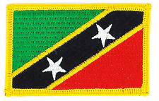 FLAG PATCH PATCHES SAINT ST KITTS AND NEVIS  COUNTRY  IRON ON EMBROIDERED SMALL