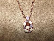 "Monika Friend Designs Swarovski Elements  & Mosaic Shell Pendant With 30""chain"