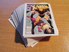 X-MEN COVERS 2 COMPLETE BASIC SET OF 45 CARDS FROM 1990