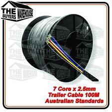 7 Core 100 Metre Automotive Cable Wire Car Truck Trailer Caravan 2.5mm ADR