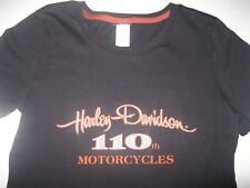 Women's Harley Davidson 110th Anniversary Sparkle T-shirt Tank Top Small **MINT*