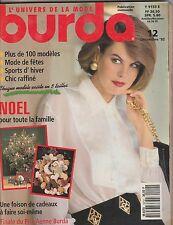 Magazine Burda N°12 décembre 1992 patrons couture