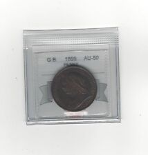 **1899**Great Britain, One Penny, Coin Mart Graded **AU-50**
