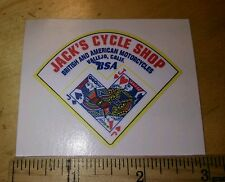 (1)Jacks cycle shop BSA MOTORCYCLES   DEALER  DECAL Vallejo. Ca