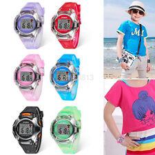Multifunction Waterproof Electronic Digital Sport Wrist Watch For Kid Boy Girl a