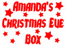 Christmas Eve Box Sticker Personalised Party Decal Gift Vinyl Stars 12