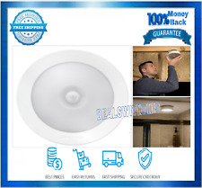 Motion Sensor Ceiling Light Led 200 Lumen Battery Powered White Indoor Outdoor