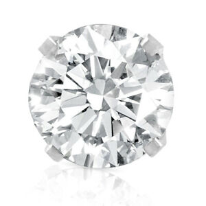 1/3ct Diamond Screw Back 14k White Gold Single Stud Earring