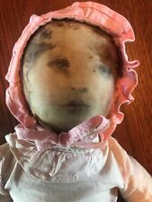 "13""  Babyland Rag Doll lithographed face made by Albert Bruckner for Horsman"