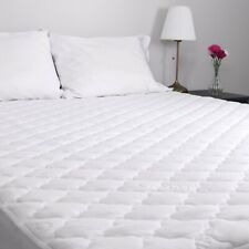 King Size Mattress Pad Hypoallergenic Waterproof COOLMAX Material White Durable