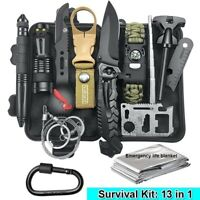 Survival Kit Camping Tactical Survival Gear Paracord Bracelet Knife Set Tools