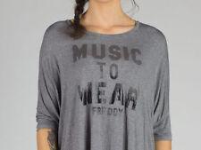 T-shirt, maglie e camicie da donna maniche a 3/4 neri grafici