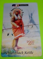 Collectible 1994 CHIEF BLACK KETTLE Native American AmeriVox 2.50 Phone Card