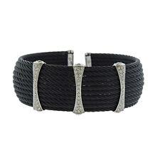 Charriol 18k Gold Black Stainless Steel Diamond Cuff Bracelet $2995