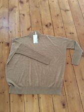 Warehouse Camel Super Boxy Turtle Neck Jumper Large 14 16  Bnwt £42