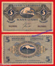 ESTONIA EESTI 5 marka 1919 Pick 45 MBC-  /   F/VF
