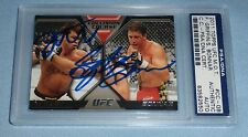 Forrest Griffin Stephan Bonnar Signed 2011 UFC MOT Collision Course Card PSA/DNA