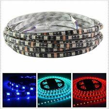 PCB Black 5M 5050 SMD RGB 60LED/M Strip Decoration Light Non-Waterproof IP60