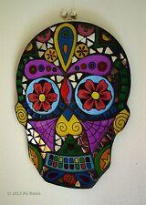Giorno dei morti MOSAICO TESCHIO da appendere Maschera Wall Art shabby chic handmade regalo NUOVO