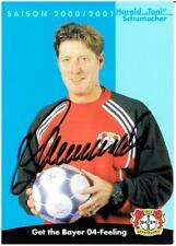Toni Schumacher    AK 00/01 Bayer Leverkusen  mit original Unterschrift !