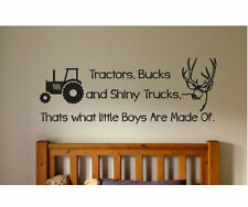 TRACTORS BUCKS SHINY TRUCKS Kids Child Vinyl Wall Decal Sticker Boys Room Hunt