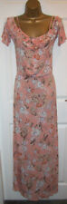 NEW LADIES TU SAINSBURYS MAXI DRESS SIZE 14, Long Peach Floral Summer Holidays