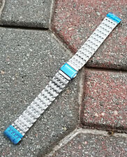 Luxury 18mm Straight End Solid Link Stainless Steel Metal Watch Band Bracelet
