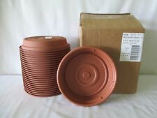 "*24* NEW HEAVY DUTY FLOWER POT SAUCERS BASES PLATES FITS 8"" PLANTER TERRA COTTA"