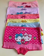 6 pcs lot girls multicolor kitty cat  cartoon cotton boyshorts underwear panties