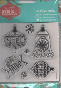 """Docrafts Clear Stamps, 10 Designs To Choose From, 4"""" x 4"""" BNIP"""