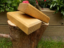 2 x Chunky Rustic Solid Wooden Display Block Bases oak color 140mm x 140mm x38mm