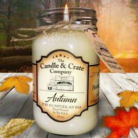Fall Soy Candles, Autumn, 16 oz Mason Jar Candle, Handmade that smells AMAZING!
