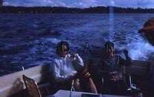 Original Vintage 1960s Negative / 35mm Slide- Women's Fashion- Fishing Boat
