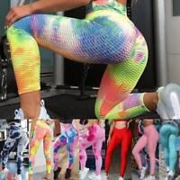 Women Yoga Pants Scrunch Leggings High Waist Anti-Cellulite Gym Workout Trousers