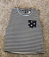 Xhileration Women's Crop Top Striped Black White Small FAST SHIP
