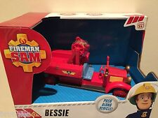 FIREMAN SAM PUSH le long de BESSIE VEHICLE ENGINE Feu Ages 3+ Neuf En Boîte RRP £ 14.99