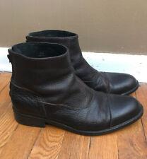 Men's Donald J Pliner Chelsea Dark Brown Leather Boots 10.5M Troy