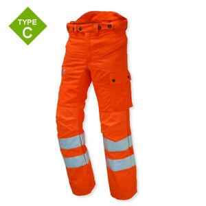 """Stihl High Visibility GO/RT chainsaw trousers,type C, XL 36"""" - 38"""" 7009 885 0309"""