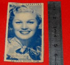 CINEMA 1947 TURF CIGARETTES CARD FILM STARS 36 JOAN CAULFIELD HOLLYWOOD ACTRICE