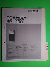 Toshiba rp-L100 service manual original repair book lcd clock fm radio