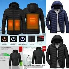 USB Electric Heated Coat Jacket Hooded Heating Winter Puffer Body Warmer Outwear