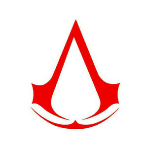 Assassins Creed Vinyl Sticker RED GLOSS 8 x 6.5 cm