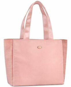 NEW! COACH Shoulder Bag TOTE Shopper SATIN Sheen SHIMMER Side Panels PINK NWT